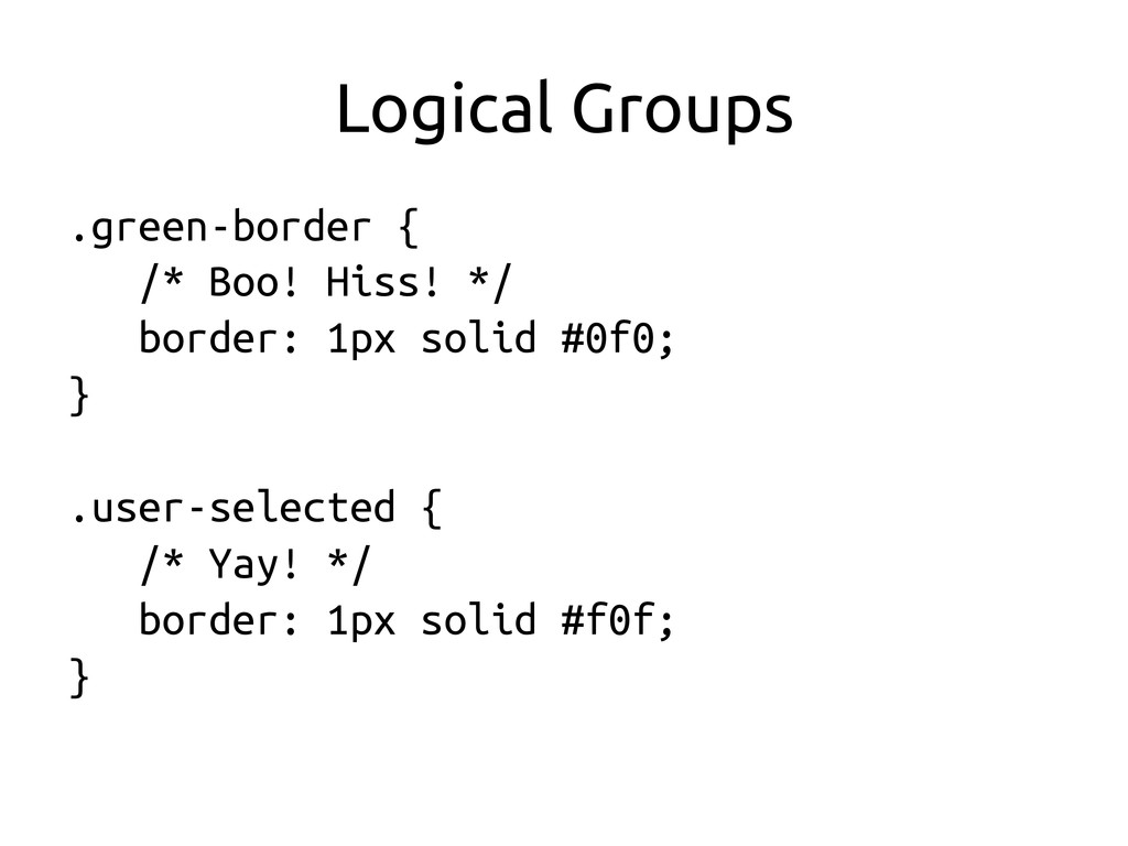 Logical Groups	