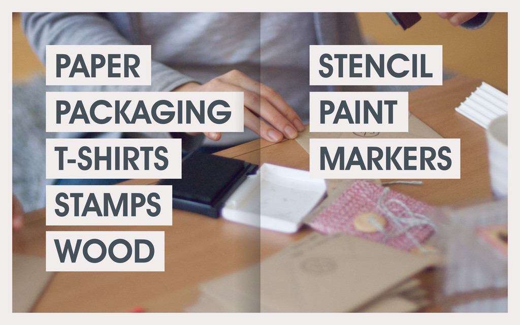PAPER PACKAGING T-SHIRTS STAMPS WOOD STENCIL PA...
