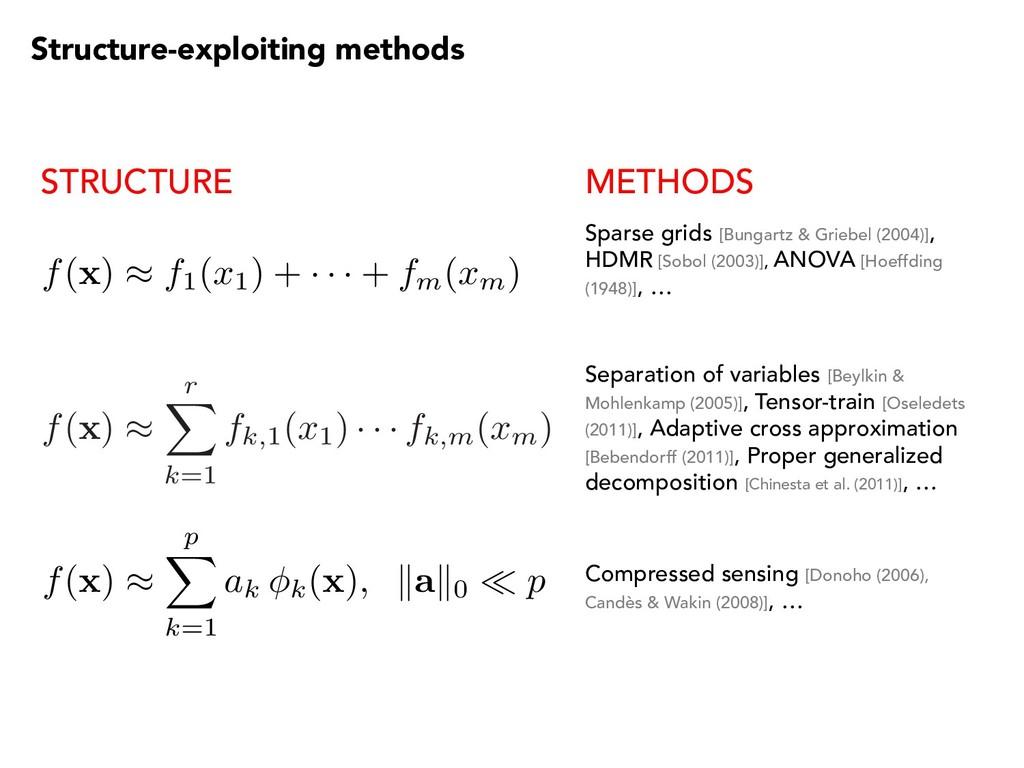 f ( x ) ⇡ r X k=1 fk,1( x1) · · · fk,m( xm) f( ...