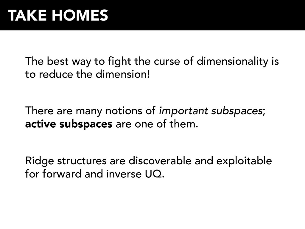 The best way to fight the curse of dimensionali...