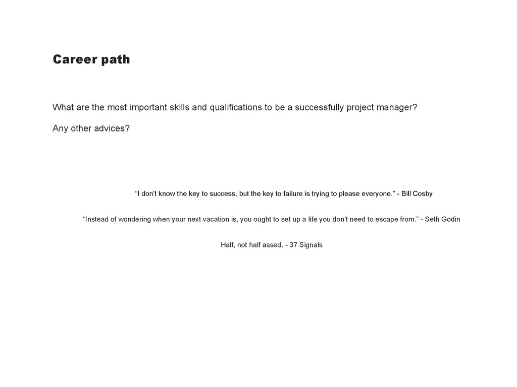 Career path What are the most important skills ...