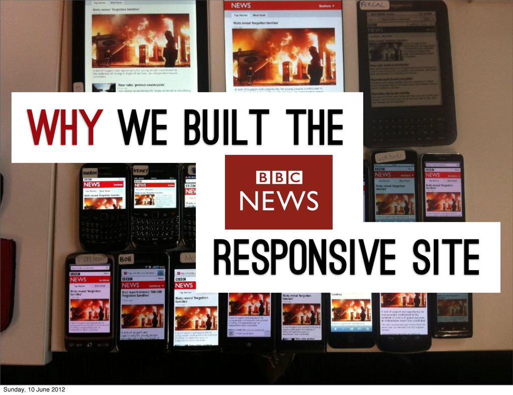 how we built the responsive site why Sunday, 10...