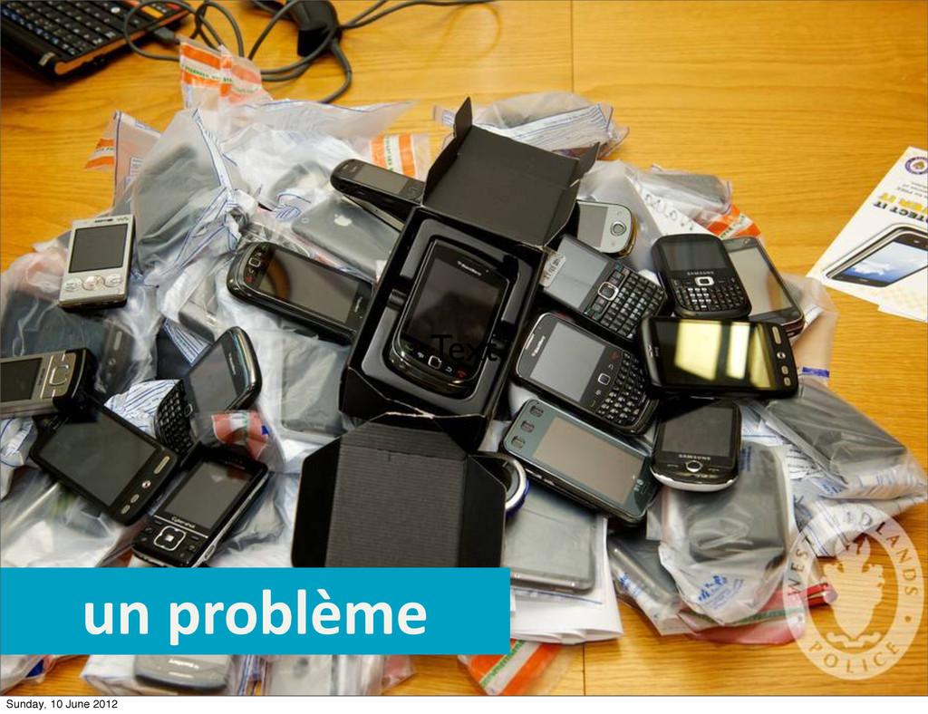 Text un problème Sunday, 10 June 2012