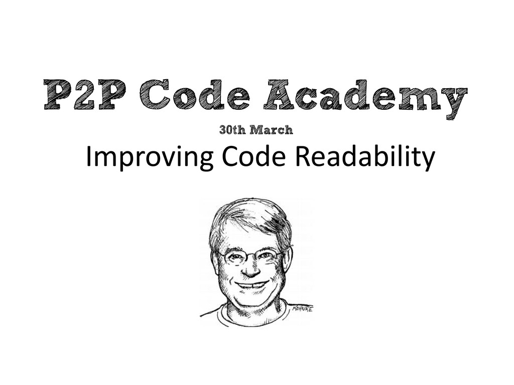 P2P Code Academy Improving Code Readability 30t...