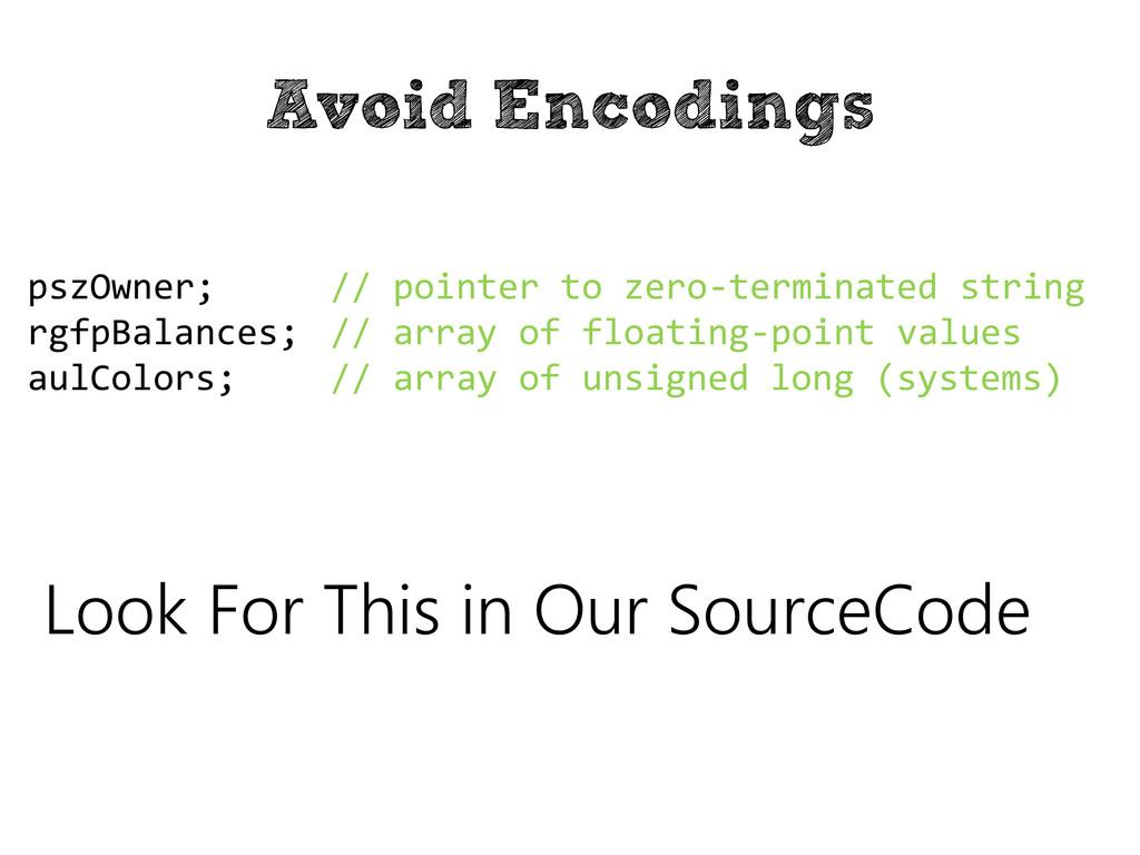 Avoid Encodings // pointer to zero-terminated s...
