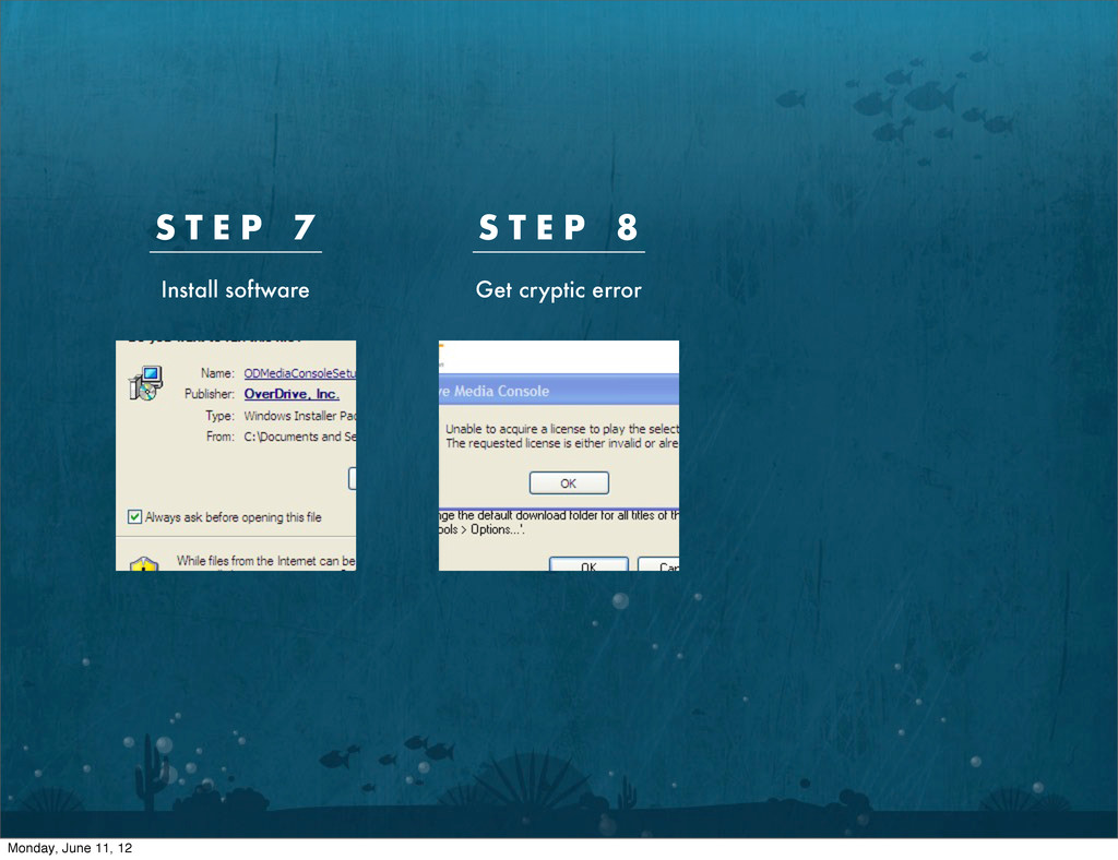 S T E P 7 S T E P 8 Install software Get crypti...