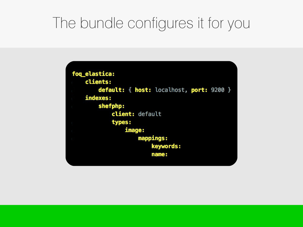 The bundle configures it for you