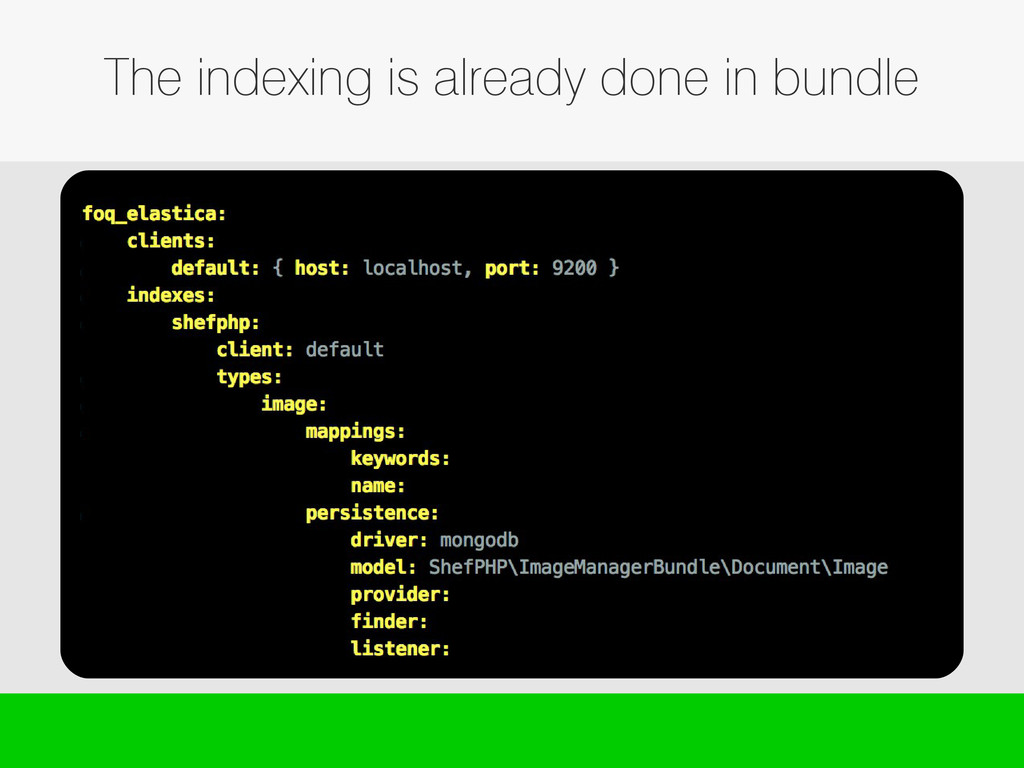 The indexing is already done in bundle