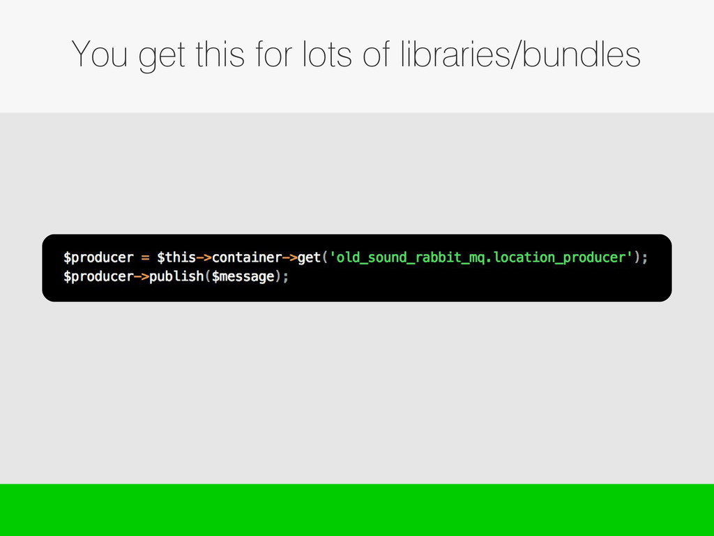 You get this for lots of libraries/bundles
