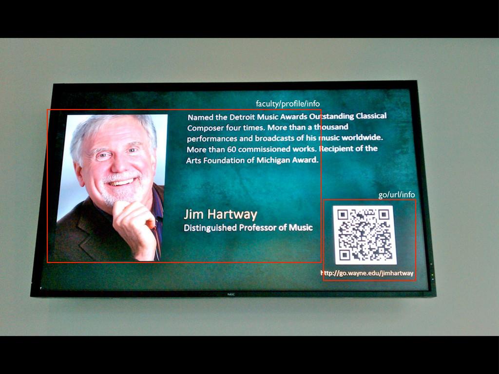 faculty/profile/info go/url/info