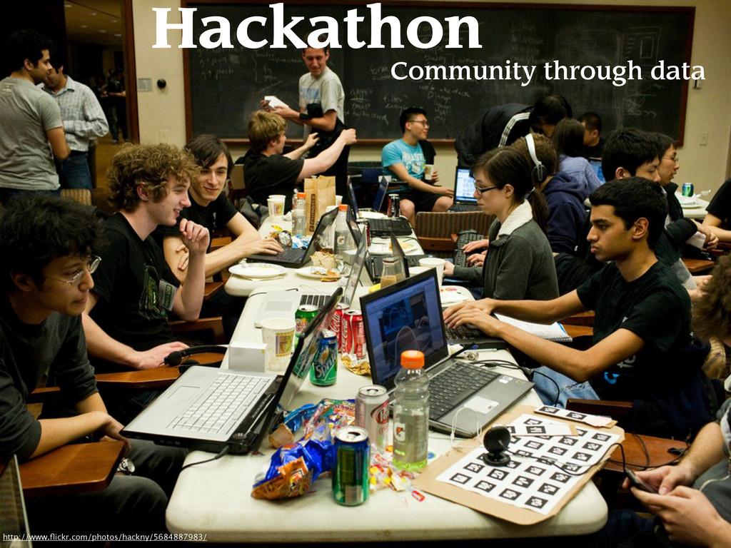 Hackathon Community through data http://www.flic...