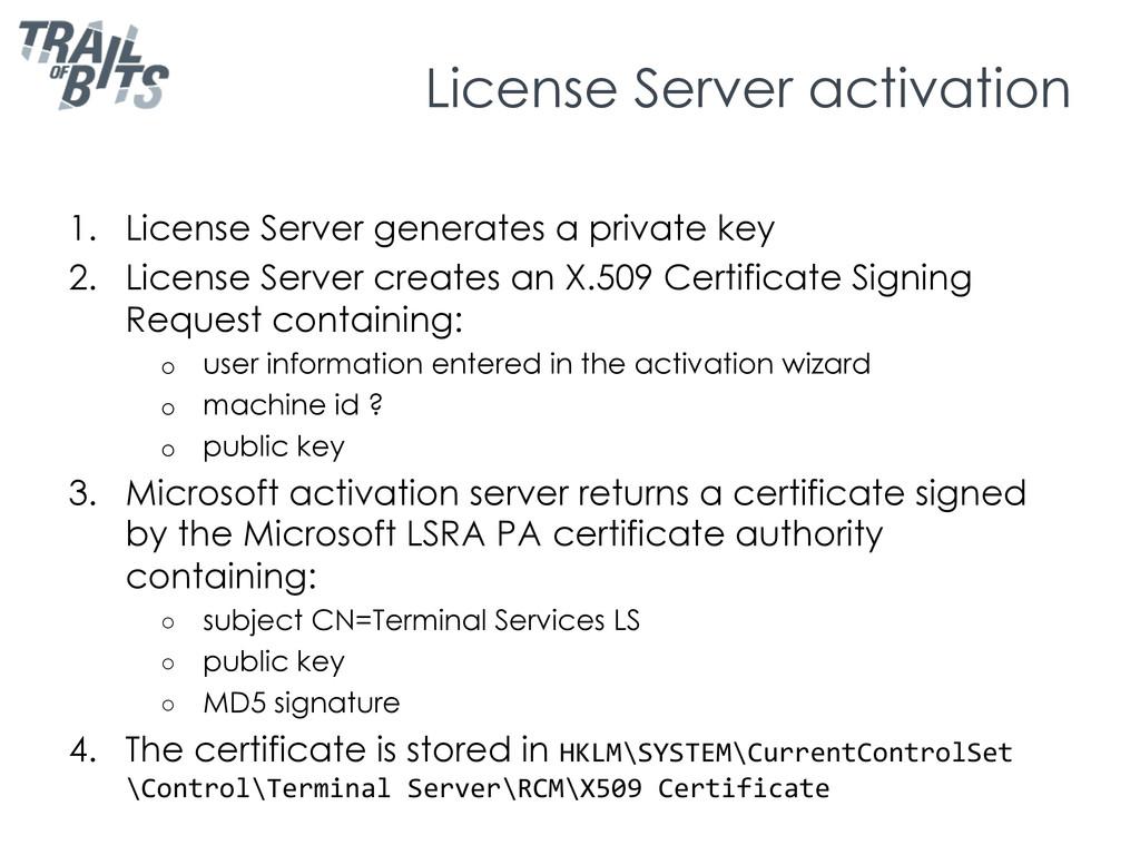 License Server activation 1. License Server ge...