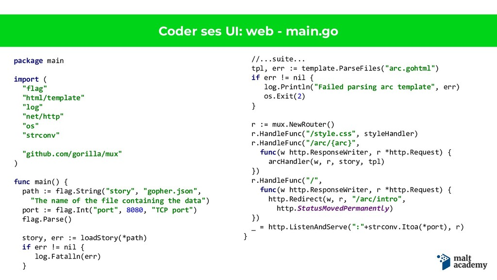 Coder ses UI: web - main.go package main import...