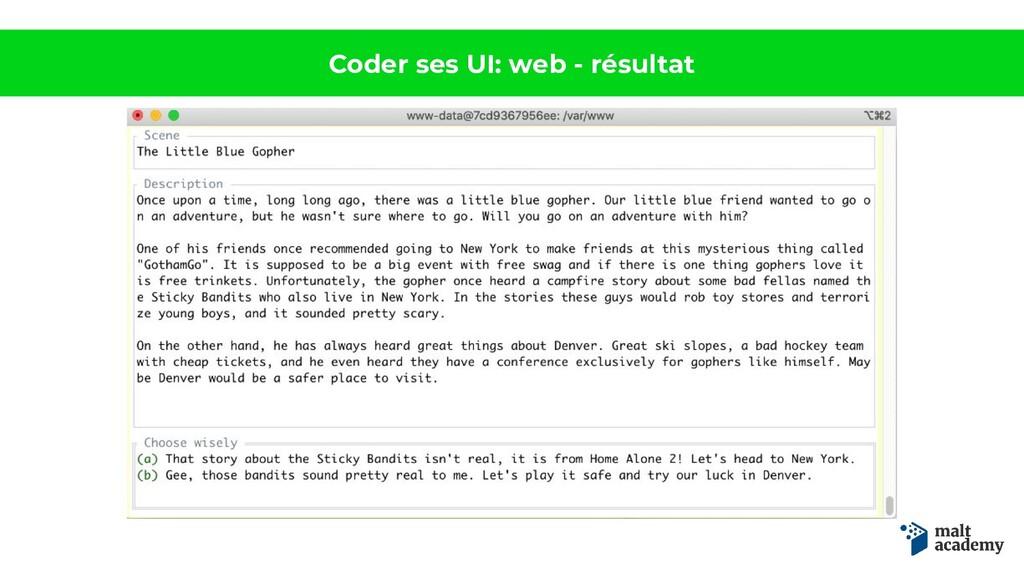 Coder ses UI: web - résultat