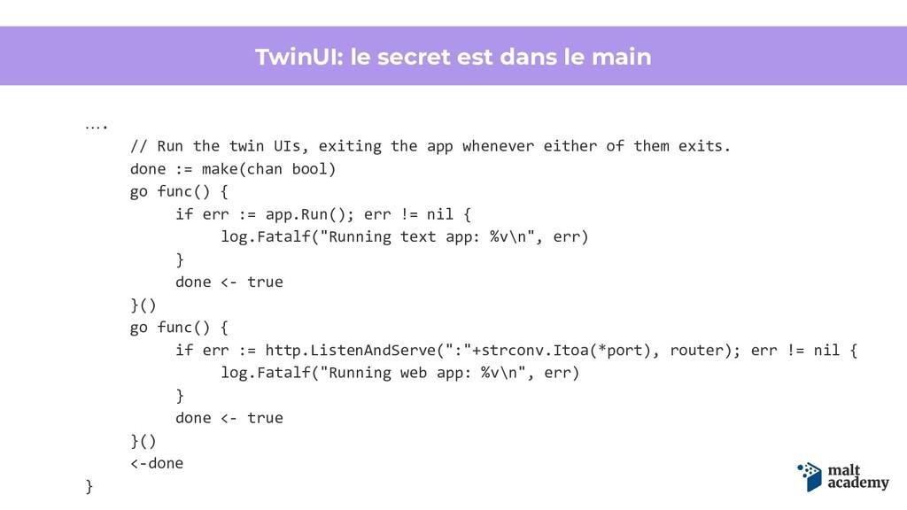TwinUI: le secret est dans le main …. // Run th...