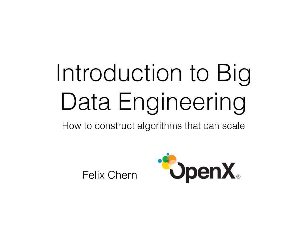 Introduction to Big Data Engineering How to con...