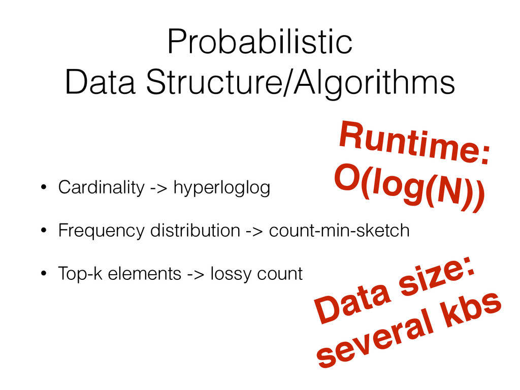 Probabilistic Data Structure/Algorithms • Cardi...