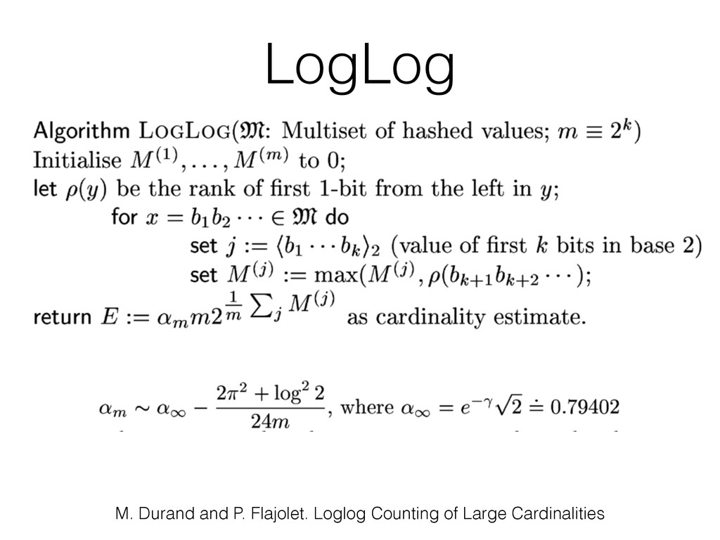 M. Durand and P. Flajolet. Loglog Counting of L...