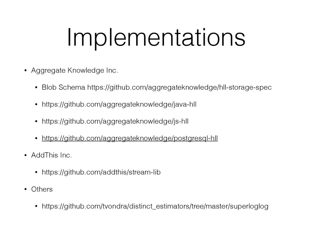 Implementations • Aggregate Knowledge Inc. • Bl...