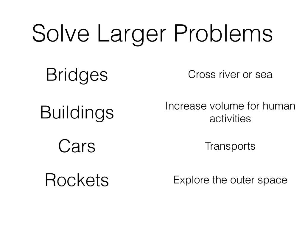 Bridges Buildings Cars Rockets Solve Larger Pro...