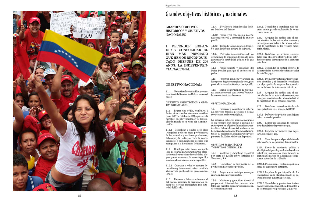 10 Hugo Chávez Frías 11 Grandes objetivos histó...