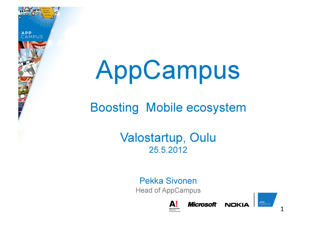 AppCampus Boosting Mobile ecosystem Valostartup...