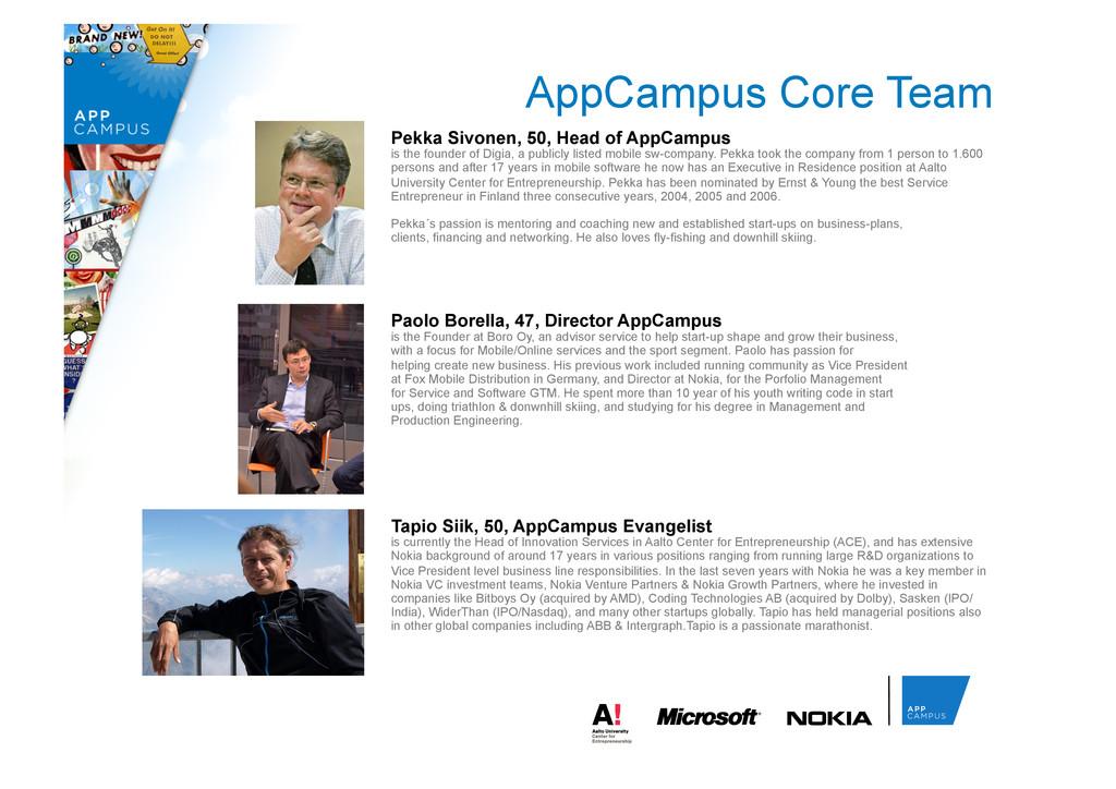AppCampus Core Team Pekka Sivonen, 50, Head of ...