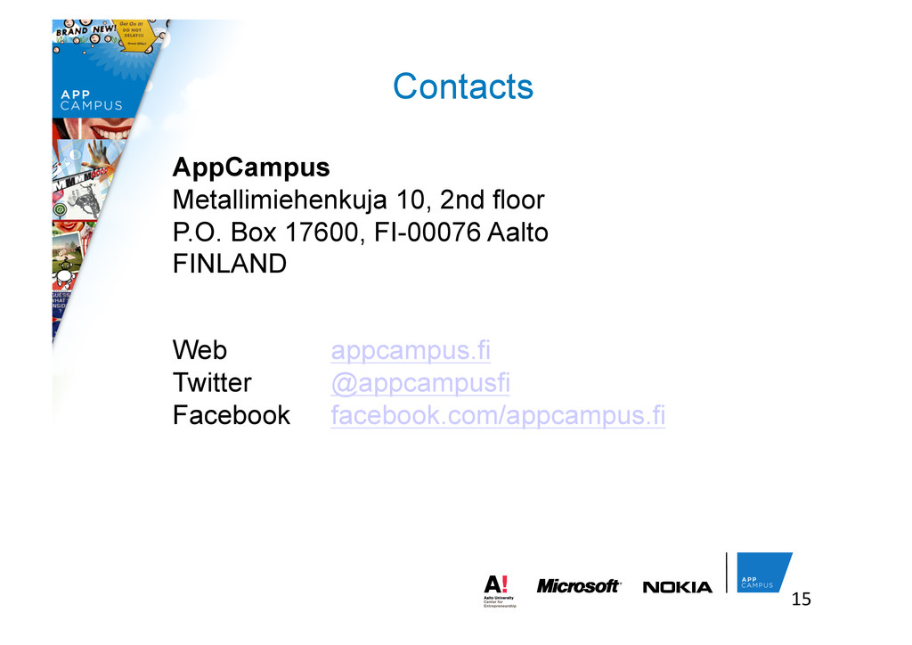 Contacts 15	