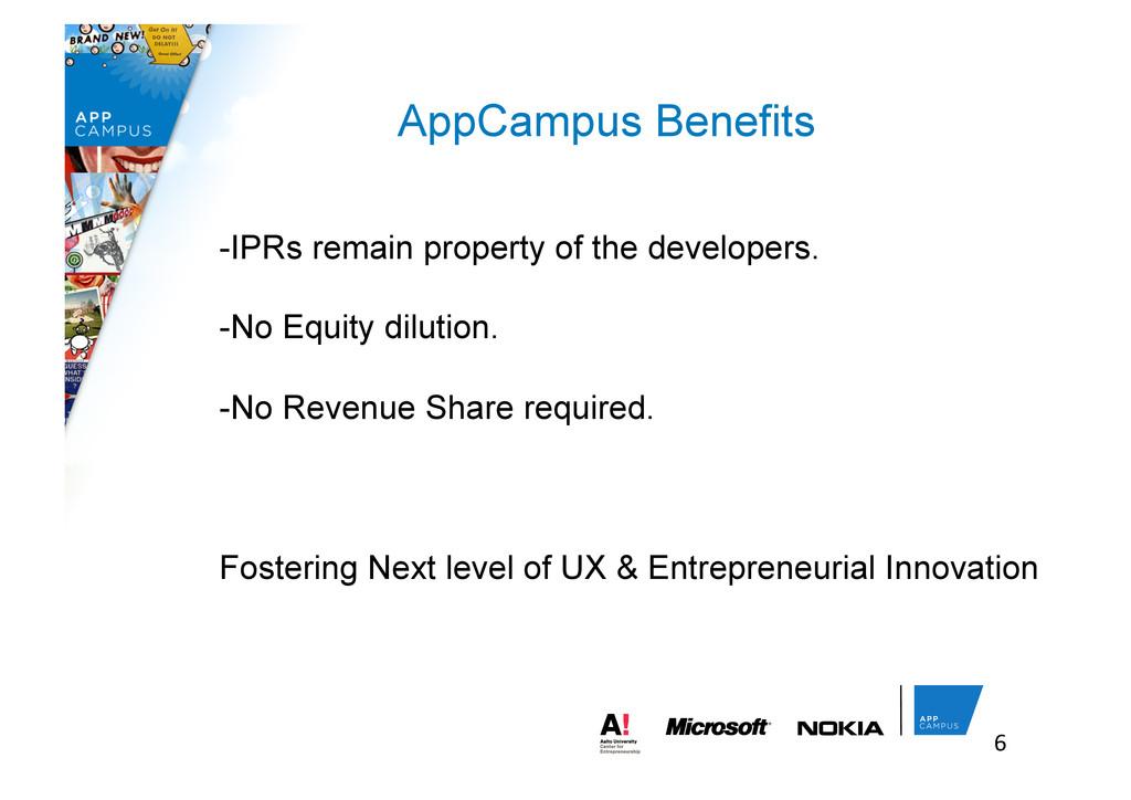 6  AppCampus Benefits -IPRs remain property ...