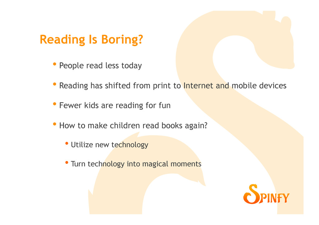 • People read less today • Reading has shifte...