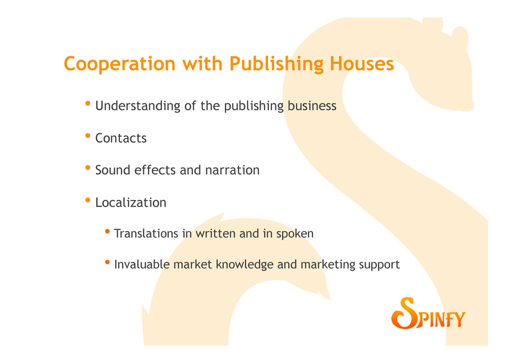 • Understanding of the publishing business • ...