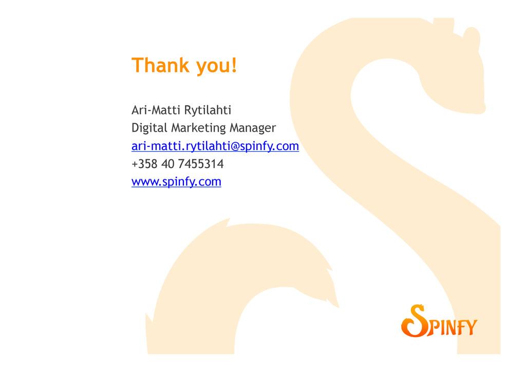 Ari-Matti Rytilahti Digital Marketing Manager a...
