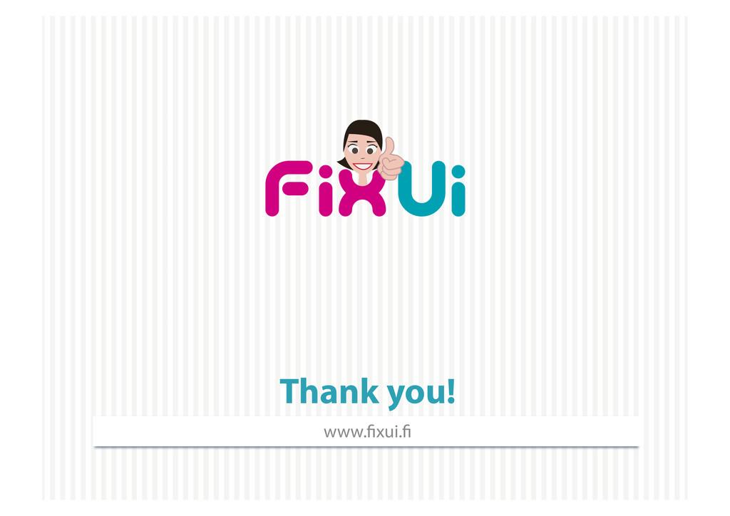 Thank you! www. xui.