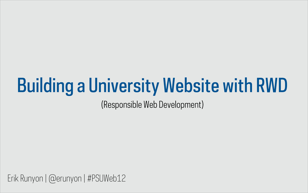Building a University Website with RWD (Respons...
