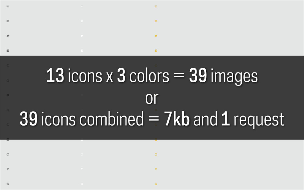 13 icons x 3 colors = 39 images or 39 icons com...