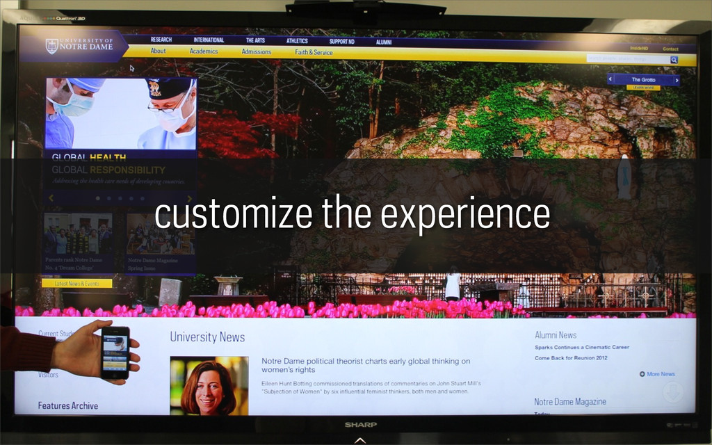 customize the experience