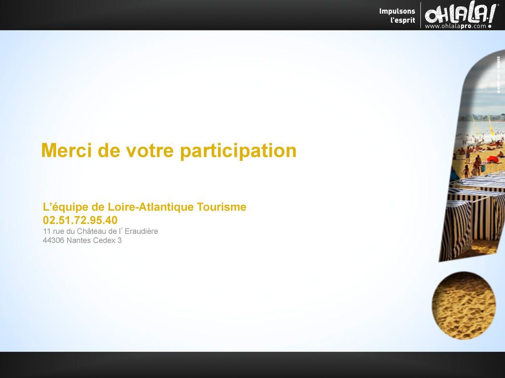 Merci de votre participation L'équipe de Loire-...