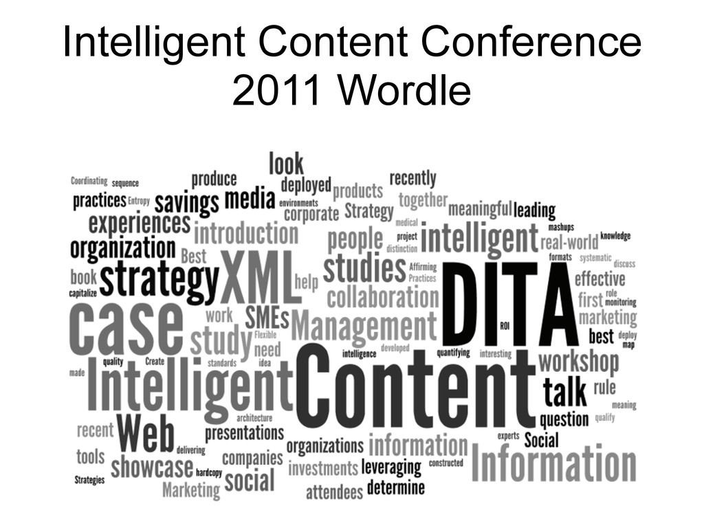 Intelligent Content Conference 2011 Wordle 22