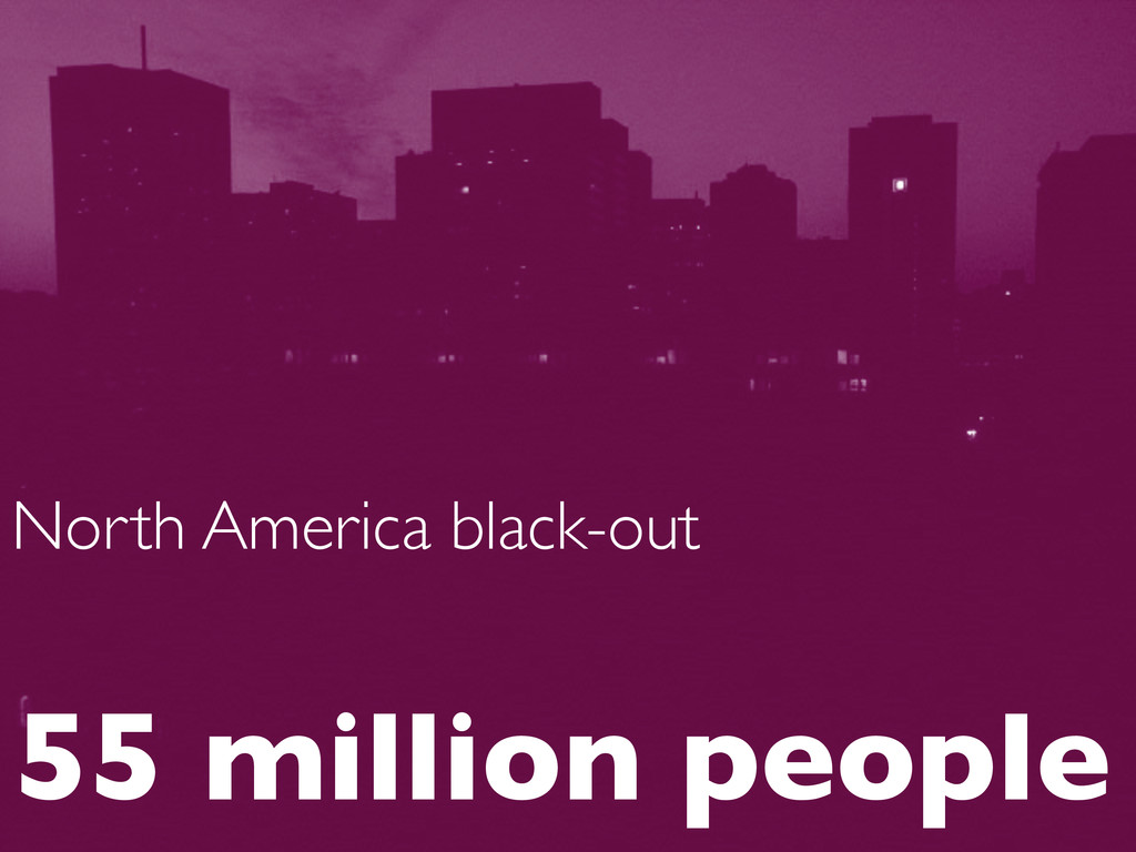 North America black-out  55 million people