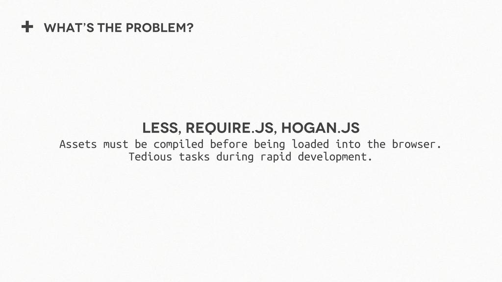 + What's the problem? Less, Require.js, Hogan.j...