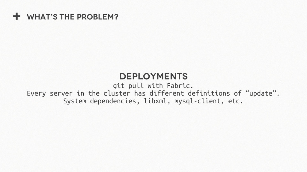 + What's the problem? Deployments git pull with...