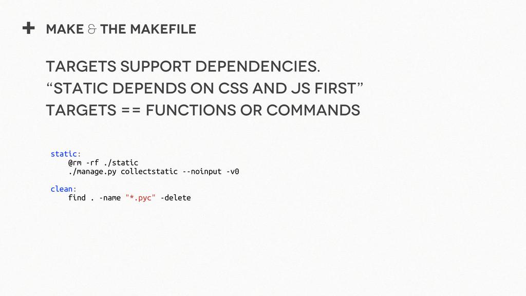 + Make & The Makefile Targets support dependenc...