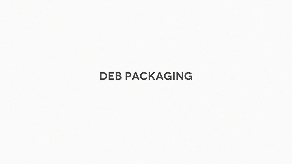 Deb packaging