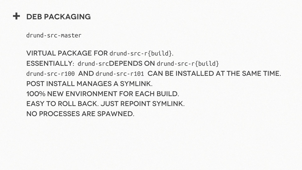 + Deb packaging drund-src-master Virtual packag...