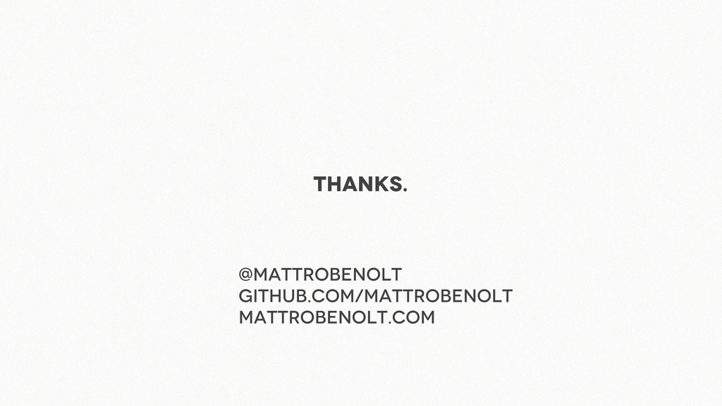 Thanks. @Mattrobenolt github.com/mattrobenolt m...