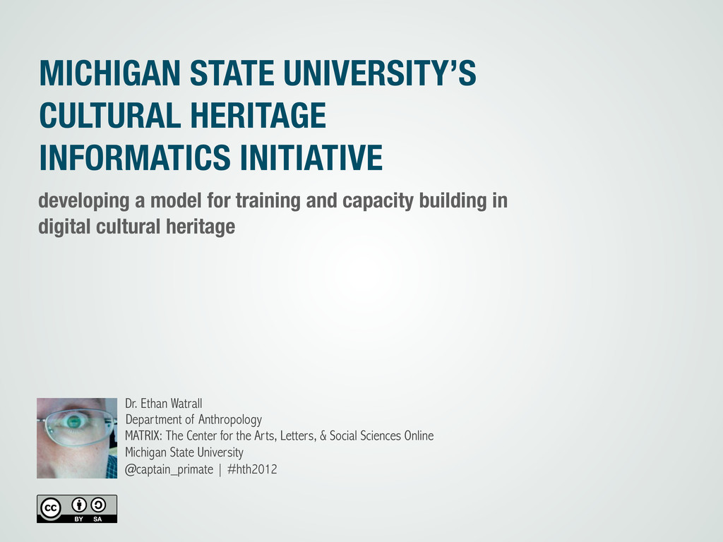 MICHIGAN STATE UNIVERSITY'S CULTURAL HERITAGE I...