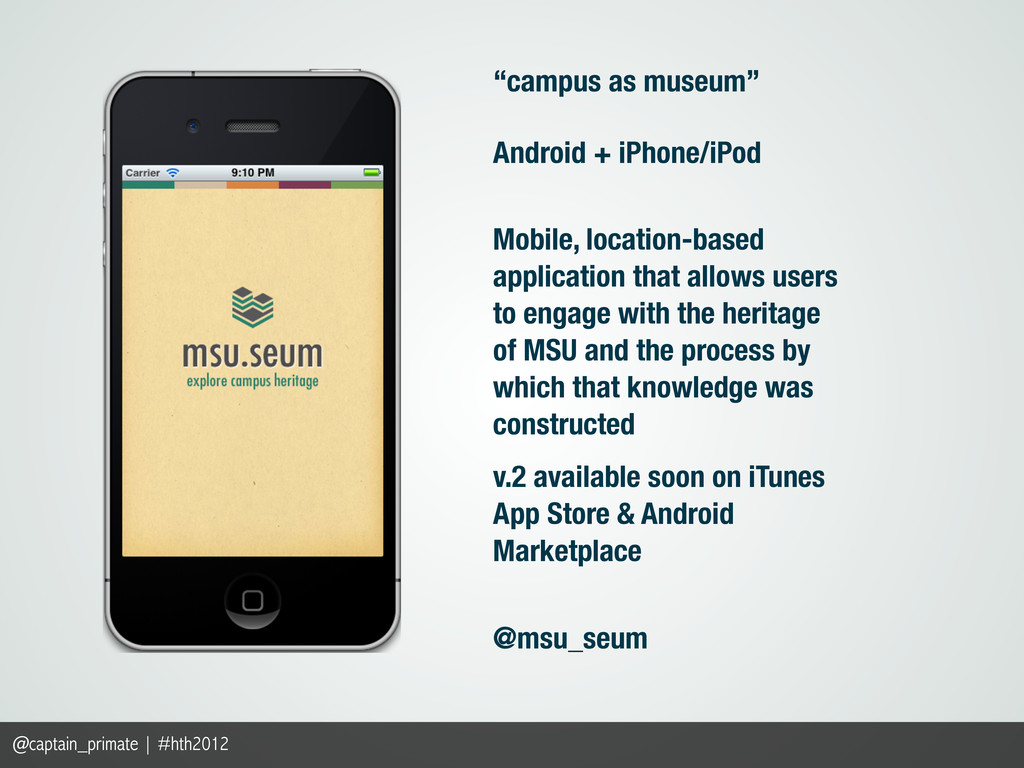 """campus as museum"" Android + iPhone/iPod Mobile..."