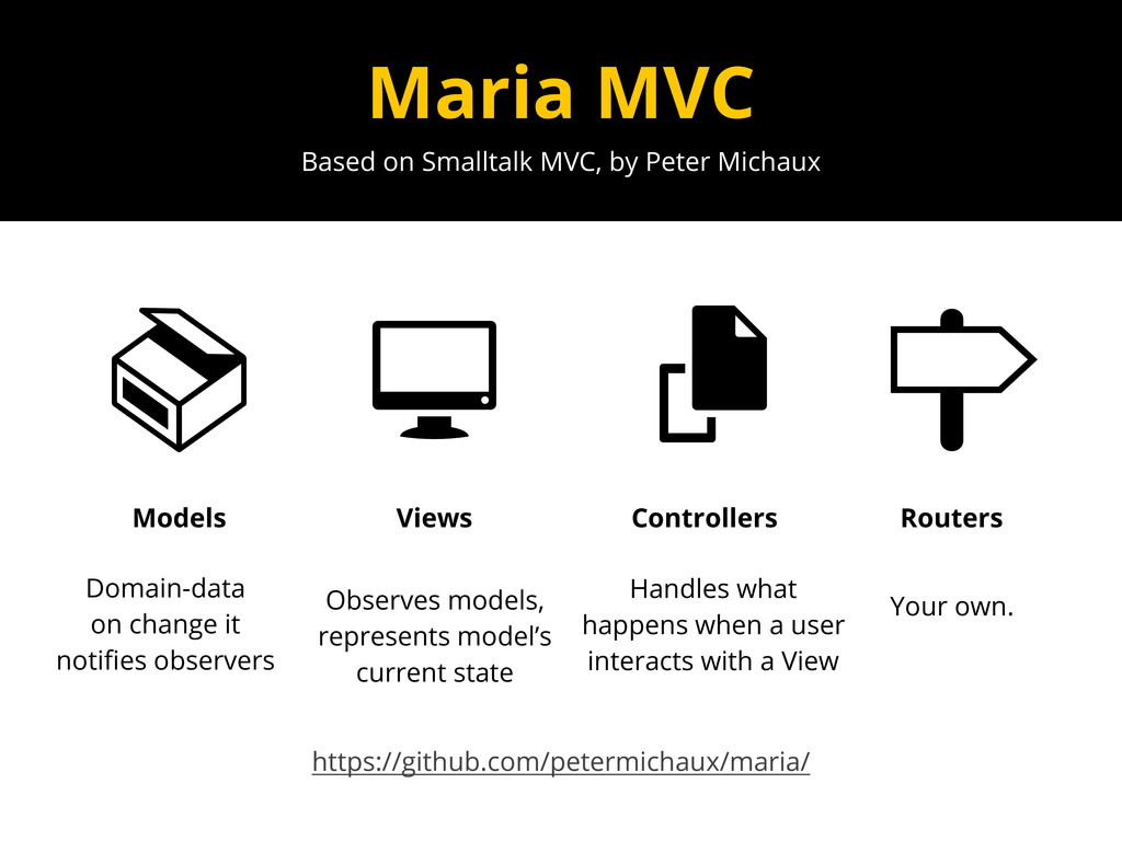 Based on Smalltalk MVC, by Peter Michaux Maria ...
