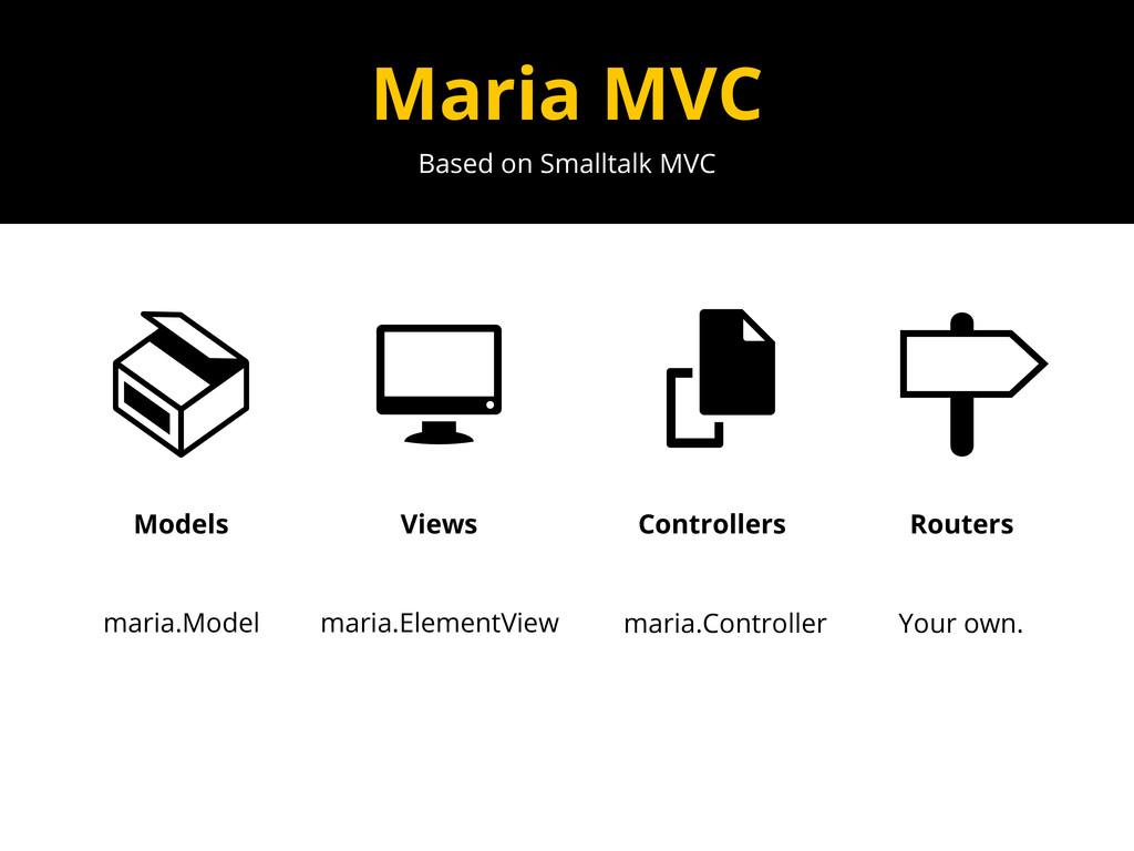 Based on Smalltalk MVC Maria MVC Models Views C...