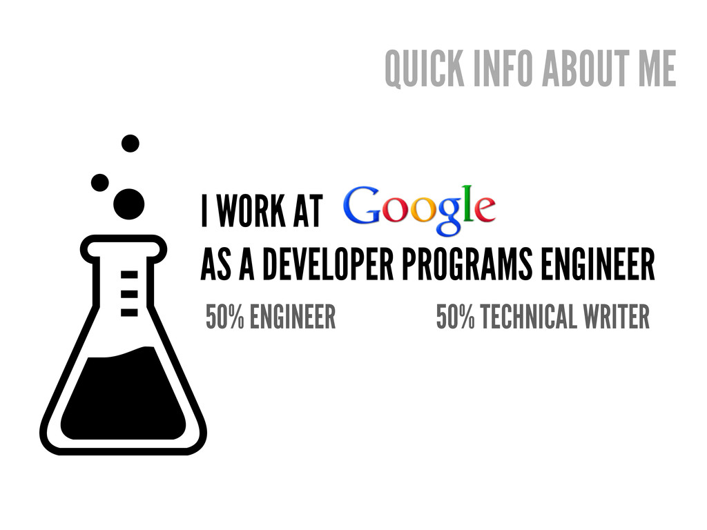 I WORK AT AS A DEVELOPER PROGRAMS ENGINEER 50% ...